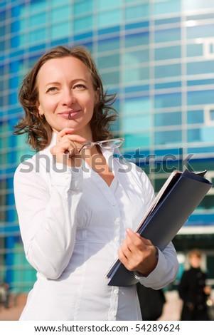Confident businesswoman. - stock photo