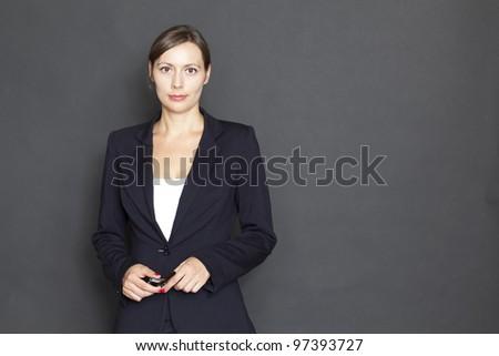 confident businesswoman - stock photo