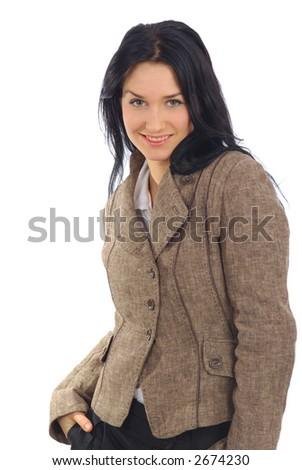 Confident businesswoman with look of success - stock photo