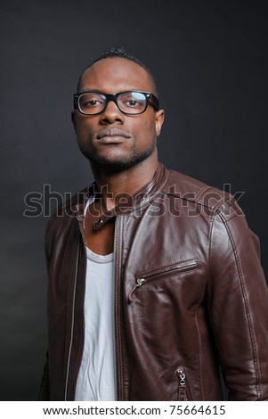 young-black-leather