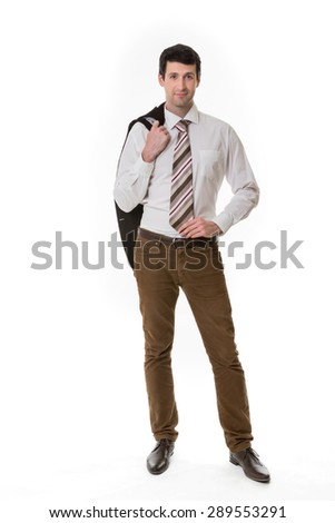 Confident clerk. Successful look of top manager. - stock photo