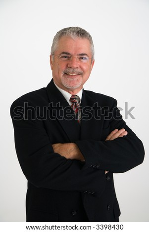 Confident happy business man - stock photo