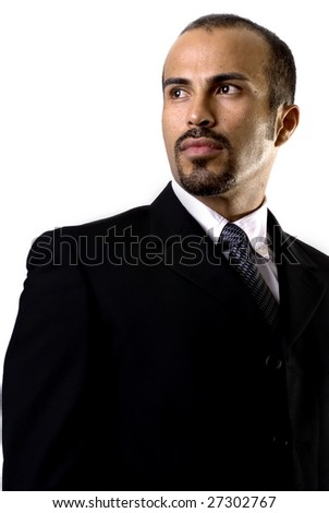Confident Hispanic business man - stock photo