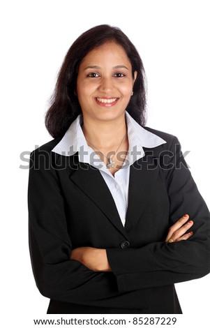 Confident Indian businesswoman - stock photo