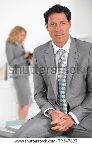 Confident male executive - stock photo