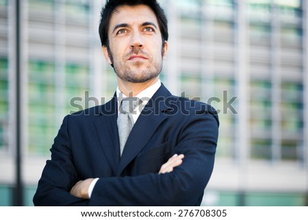 Confident male manager - stock photo
