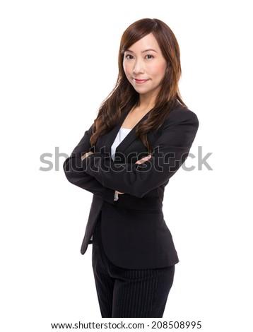 Confident mature asian businesswoman - stock photo