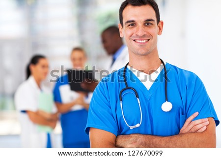 confident medical doctor portrait in hospital
