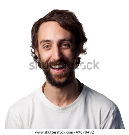 Confident portrait of a happy young man - stock photo