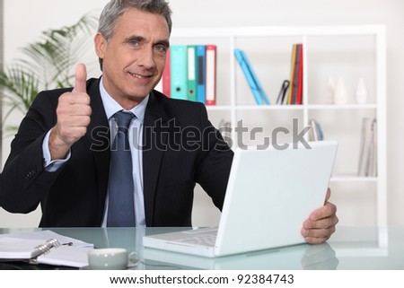 Confident sales-man - stock photo