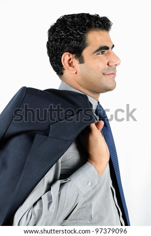 confident smiling middle eastern business man - stock photo