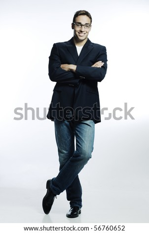 confident smiling young man - stock photo