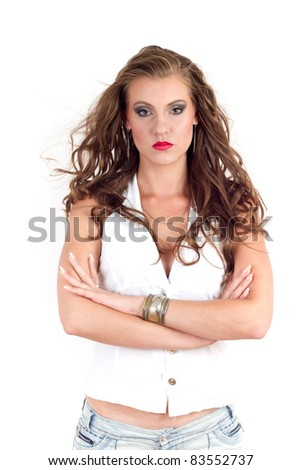 Confident woman - stock photo