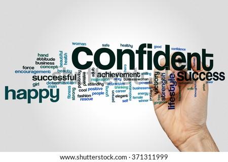 Confident word cloud - stock photo