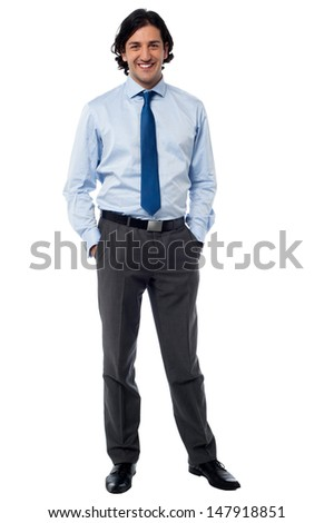 Confident young entrepreneur in formals - stock photo