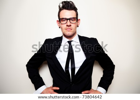 Confident young man - stock photo