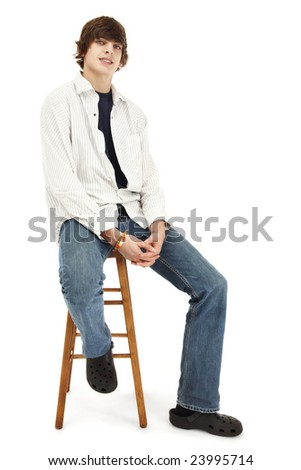Sitting On Stool Stock Images Royalty Free Images