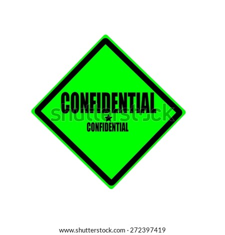 Confidential black stamp text on green background - stock photo