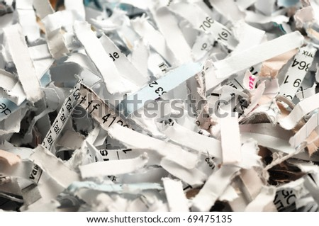 confidential documents destroyed - stock photo