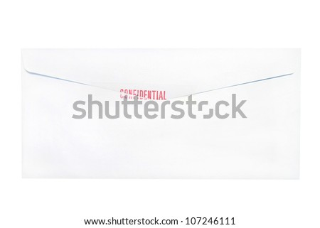 confidential envelope letter isolated - stock photo