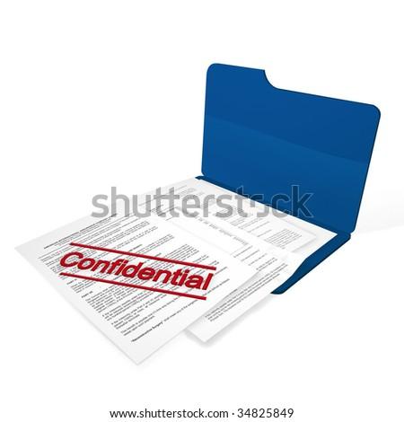 confidential file - stock photo