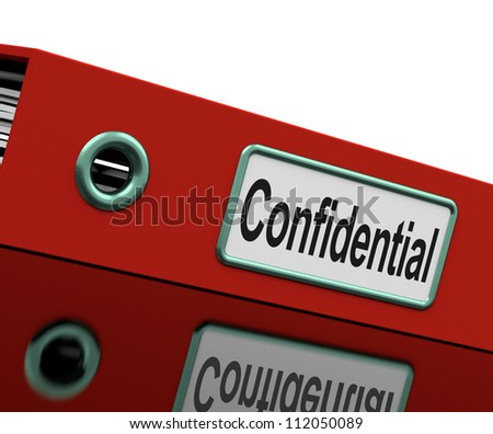Confidential File Showing Private Correspondence Or Documents