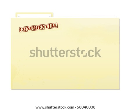 Confidential file with slight grunge for worn effect. - stock photo