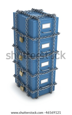 Confidential Files - stock photo