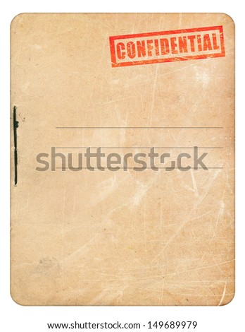 Confidential folder for papers  - stock photo