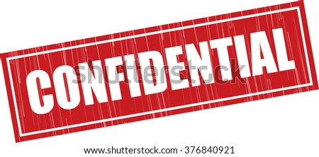 Confidential grunge rubber stamp. - stock photo