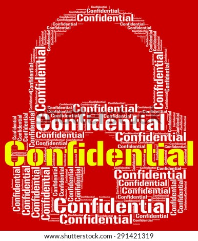 Confidential Lock Showing Secret Secrecy And Confidentially