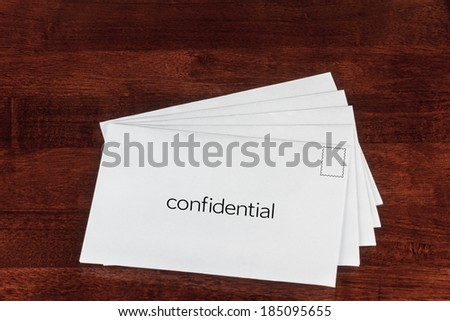 Confidential or Top Secret Letter Showing Business Post Concept  - stock photo