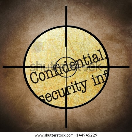 Confidential target concept - stock photo
