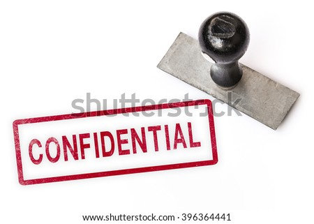 confidential text sign label stamp. - stock photo