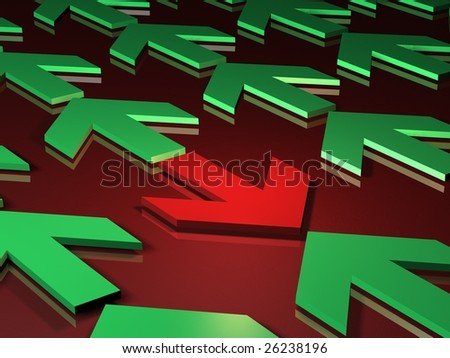 conflict and opposition - stock photo