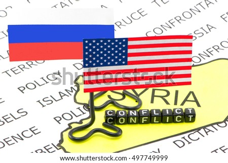 Conflict and war in the United States and Russia to Syria