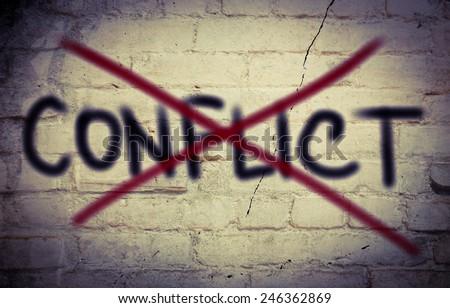 Conflict Concept - stock photo