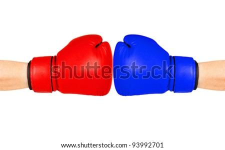 conflict, fight - stock photo