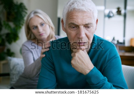 Conflict In An Elderly Couple - stock photo