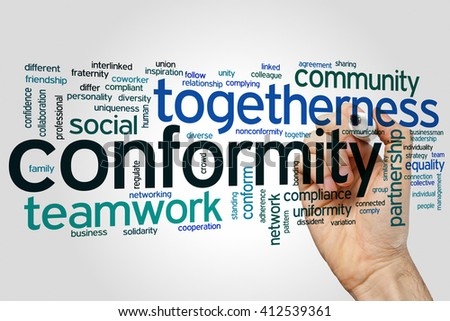 Conformity concept word cloud background - stock photo