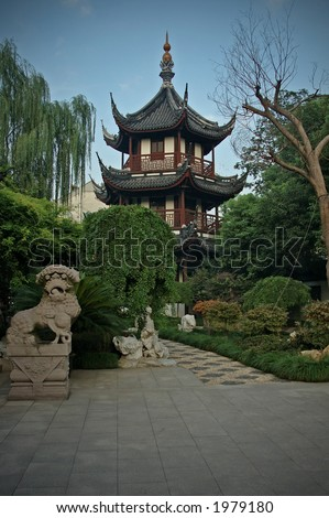 confucius temple - stock photo