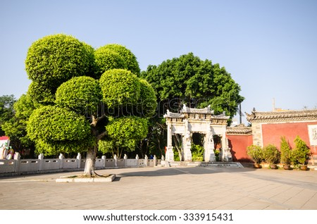Confucius Temple in Jianshui, Yunnan Province, the third largest - stock photo