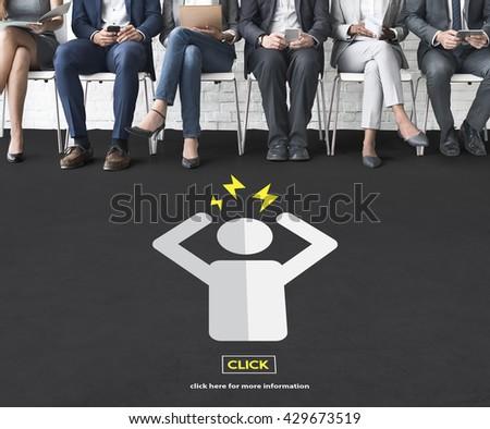 Confuse Confusion Problems Vague Distinct Contemplation Concept - stock photo