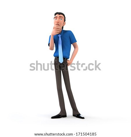 Confused businessman - stock photo
