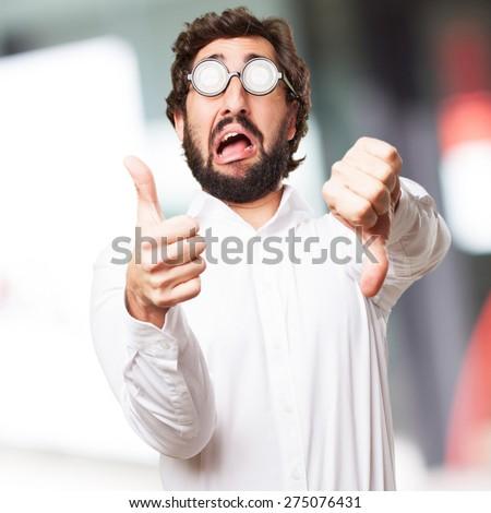 confused fool man - stock photo