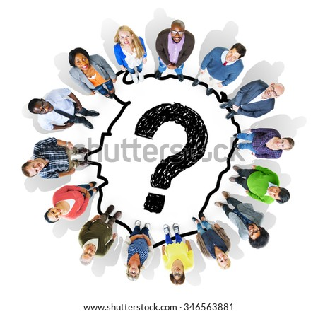 Confused Problem Question Worried Thought Concept - stock photo