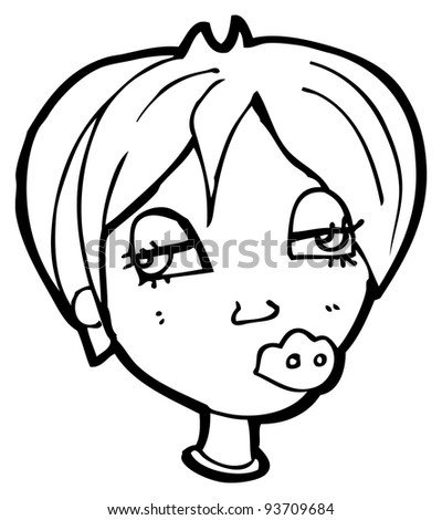 confused woman cartoon (raster version)