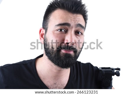 confused young man - stock photo