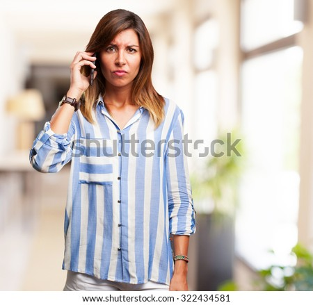 confused young-woman with mobile