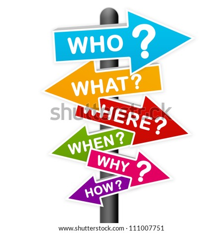 Confusion Concept Present By The Colorful Question Sign Isolated On White Background - stock photo